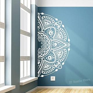 Mandala de la moda media etiqueta engomada del arte etiqueta de la pared decoración para el hogar dormitorio yoga apliques mandala flor etiqueta rey azul 80X40 cm