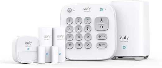 eufy Security 5-Piece Home Alarm Kit, Home Security System, Keypad, Motion Sensor, 2 Entry Sensors, Home Alarm System, Con...
