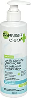 Garnier Clean+ Clarifying Cleansing Gel Sensitive Skin, 8 Fluid Ounces (Packaging May Vary)