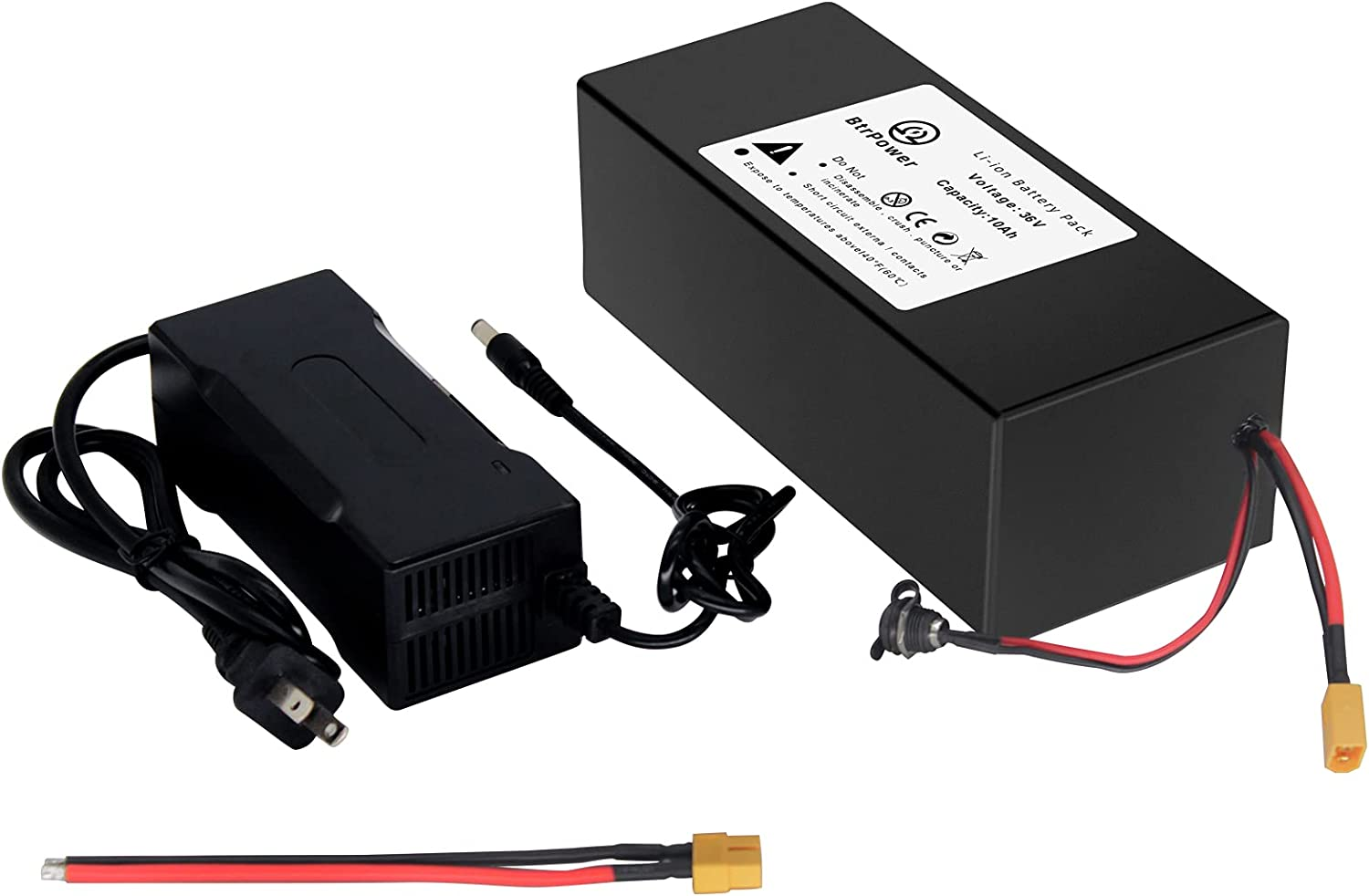 36V Ebike Battery - 10AH Li-ion free Import Charger and Pack 3A with