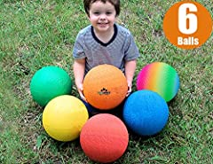 🔵 BEST VALUE - Why pay extra for separate playground ball when you can get this most popular 6 colorful balls in 1 playset deal today? 🔴 GET YOUR CHILD OFF THE COUCH AND GIVE THEM SOMETHING ACTIVE TO DO: Whether it be dodgeball, kickball, basketball,...