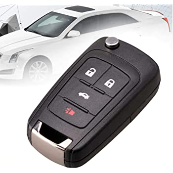 KAWIHEN Silicone Cover Fit for Chevrolet Chevy Cruze Equinox Impala Malibu Sonic Spark Volt Camaro 4 Buttons Key Fob Case Cover OHT01060512 KR55WK50073