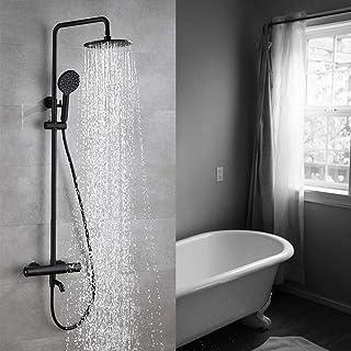 BYCDD ハンドシャワー、シャワースイートの壁は、圧力バランスメタルシャワーを含めシャワー蛇口ラフインバルブボディとトリムマウント,A