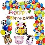 Cumpleaños Juguetes Globos De Fiesta Decoracion para Chico Chica,GEEKEO Decoraciones para Fiestas de Cumpleaños Animales de Granja para niños Juego de Decoraciones para Fiestas
