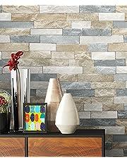 NEWROOM steenbehang behang beige muur steen modern papierbehang bont papier modern design 3D-look steenbehang baksteen baksteen metselwerk klinknagel loft incl. behanggids