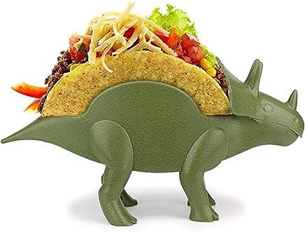 Preisvergleich für Barbuzzo Tricerataco Taco Halter - Dinosaurier Essen Halter Passend Für Jurassic Taco Dienstags Und Dinosaurier Parteien Kinder Geburtstagsparty (grün/Orange / Rot), Niedliche Tier Kinder Schüssel