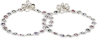 Frolics India Stones Studded Silver Coloured with Ghungroo Alloy Anklet for Girls and Women