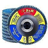 S&R 10 Discos de láminas para Metal, Acero Inox, Madera