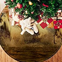 ツリースカート クリスマスツリースカート 馬 海 夕焼け ホリデーデコレーション メリイクリスマス飾り 下敷物 可愛い 雰囲気 クリスマスパーティー 直径77cm