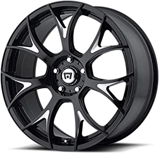 MOTEGI MR126 Gloss Black With Milled Accents Wheel with Painted (18 x 9.5 inches /0 x 57 mm, 40 mm Offset)