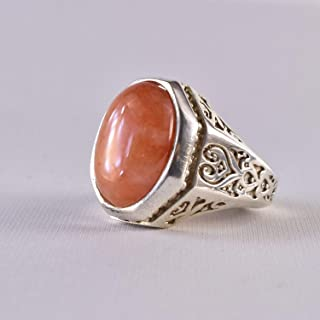 Dur e Najaf Ring Silver   خاتم در النجف الاصلي   AlAliGems   Red Dur Hussaini Stone Ring Size 11