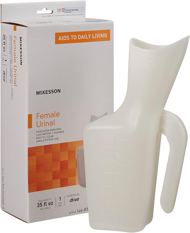 McKesson Female Urinal 32 oz. / 946 mL Translucent : Health & Household