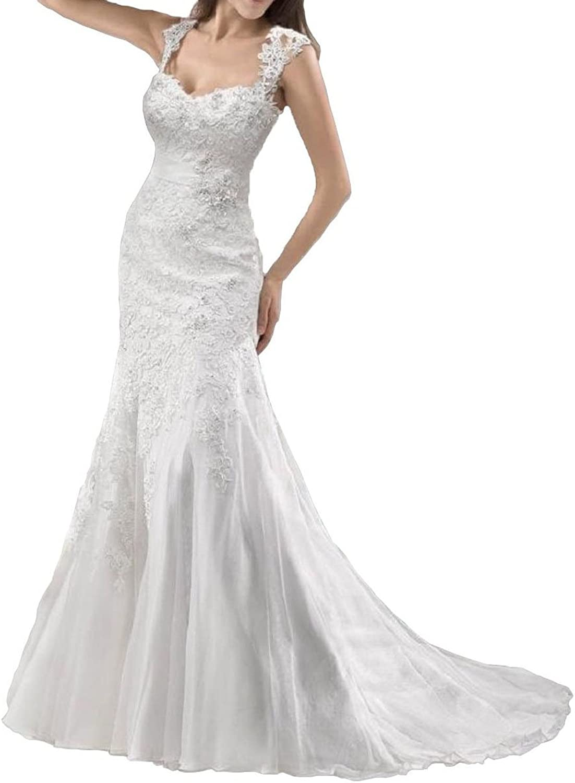 Baixia Straps Lace Mermaid Wedding Dress Birde Gowns