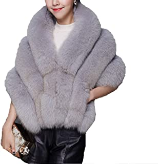 Aurora Bridal Elegent Fur Princess Faux Fur Collar Winter Warm Scarf