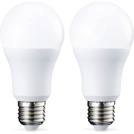 Amazon Basics Bombilla LED Esférica E27, 10W (equivalente a 75W), Blanco Frío - 2 unidades