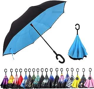 Windproof And Rainproof Double Folding Inverted Umbrella Japan Anime My Hero Academia Car Reverse Umbrella With C-Shaped Handle UV Protection Inverted Folding Umbrellas