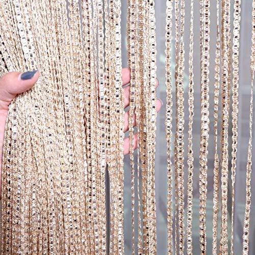 Glitter String Vorhang Panel, Quaste Band Streifen Sparkle Fringe für Fenster Tür Wohnzimmer Schlafzimmer Raumteiler, Party Dekoration