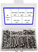 box bolt sizes
