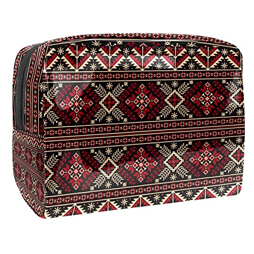 Bolsa de bolsa de cosméticos de química de mesa periódica negra (L xW xH) 18.5x7.5x13cm PVC, Multi-16, 18.5x7.5x13cm/7.3x3x5.1in,