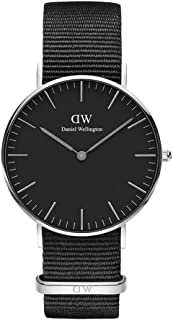 Daniel Wellingon Classic Cornwall Watch, Black NATO Band
