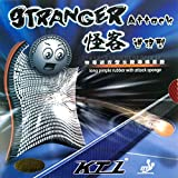 KTL Stranger Attack Long Pips-Out Table Tennis (Ping Pong) Rubber with Sponge (red, 1.2mm)