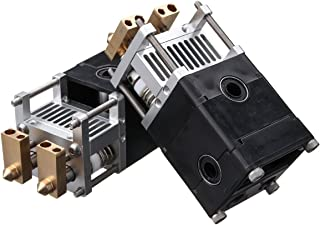 MASUNN 3D Printer Deel Ultimaker Um2 Aluminium Dual Heads Extruder Kit Voor 0.4Mm 1.75/3Mm Nozzle - #1
