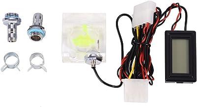 Termómetro de medidor de Flujo de Agua, medidor de Flujo de Agua de 3 vías termómetro Digital preciso para Sistema de refrigeración por Agua de PC, Duradero