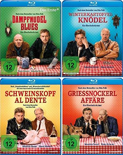 Eberhofer - Set (Dampfnudelblues + Winterkartoffelknödel + Schweinskopf al dente + Grießnockerlaffäre) [Blu-ray]