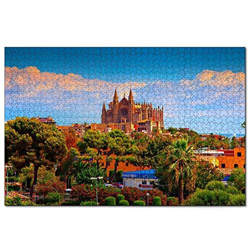 España Catedral de Palma de Mallorca Rompecabezas para Adultos, 1000 Piezas de Madera, Regalo de Viaje, Recuerdo, 30x20 Pulgadas