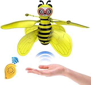 Minaliv Flying Bee Toys for Girls,RC Infrared Sensor Control Remote Control Child Toy