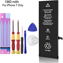 LIKEGOR Battery Compatible with iPhone 7,1960 mAh Replacement Battery for A1660,A1778,A1779, 0 Cycle,with Complete Repair Tool Kits, Instructions & Adhesive Strips -24 Months Warranty