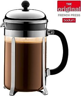 Bodum Chambord French Press Coffee Maker, 51 Ounce, 1.5 Liter, Chrome