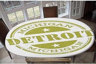 Detroit Housse de table élastique en polyester - Motif rétro avec étoiles - Pour table jusqu'à 121,9 x 172,7 cm