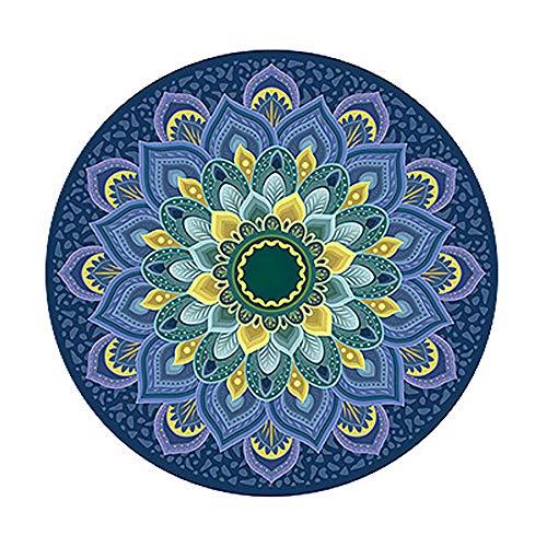 LJJ Colchoneta de Meditación Yoga Antideslizante, Ronda Alfombra Yoga 140x140x4cm,C