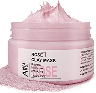 ANAIRUI facial clay mask for Face and Body All Skin Types (rose)