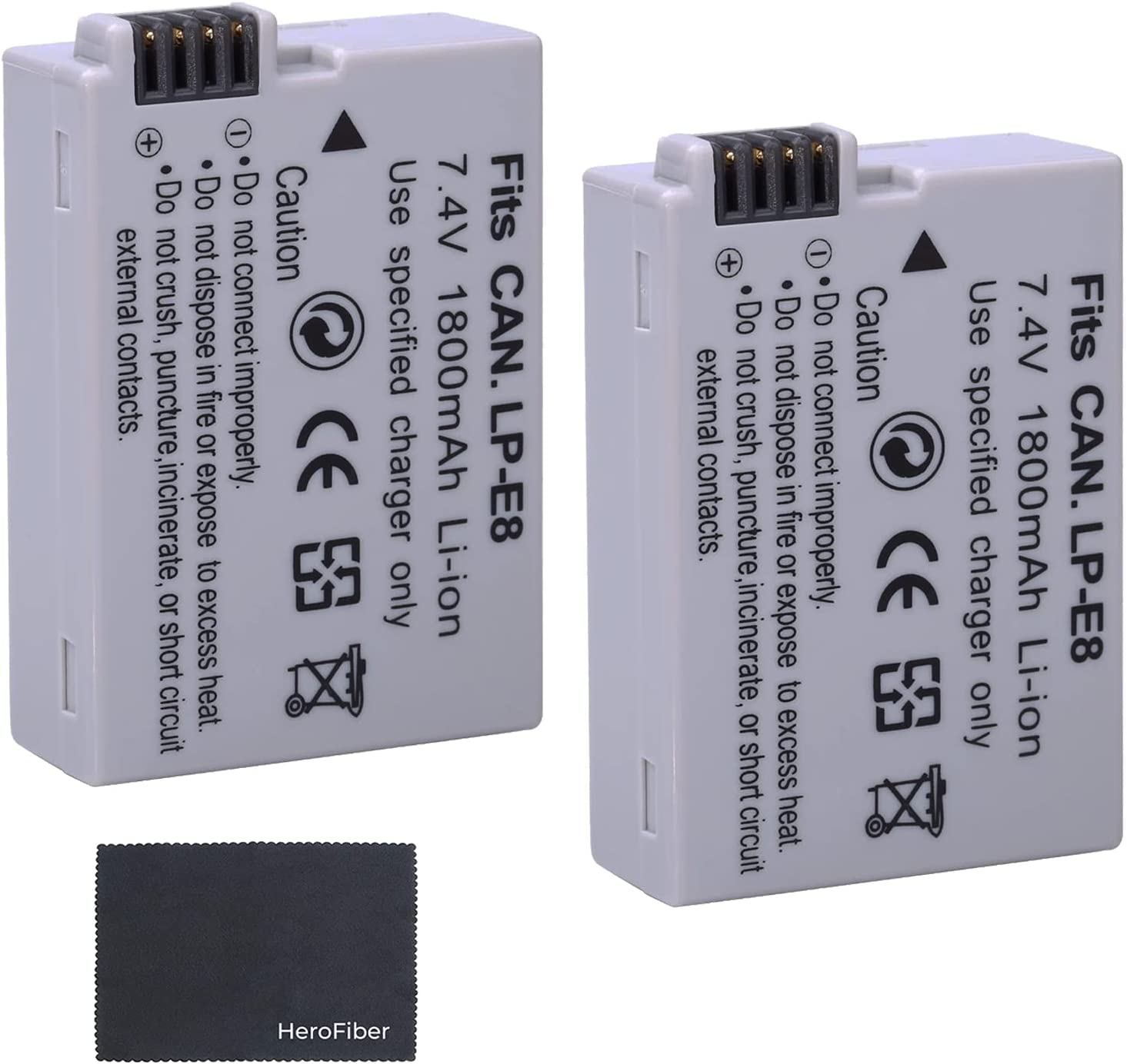T4i 650D PATONA 2X Bateria LP-E8 Compatible con Canon EOS 550D T5i 600D T3i 700D Rebel T2i