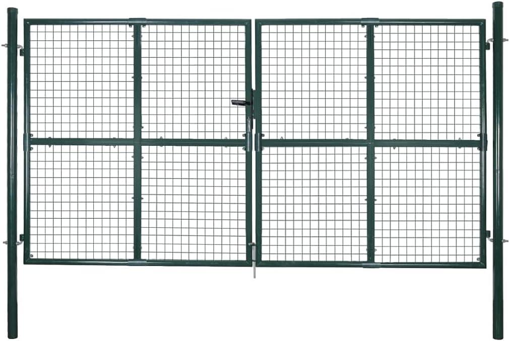 Outdoor Garden Gate Barrier Double Stable Durable Very [Alternative dealer] popular Door Wi