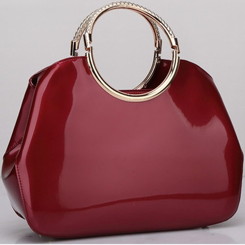 YTTY Zarte Mode Handtaschen Handtaschen Lackleder Abendtasche Braut Tasche, Weinrot B0784PCFY1  Nutzen Sie Materialien voll aus