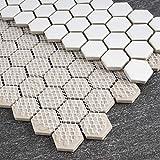 BT-PM2 White Tiny Hexagon Porcelain Penny...