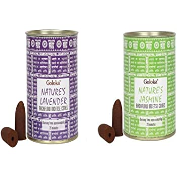 Backflow Incense Cones by GOLOKA Premium Patchouli /& Pure Musk Pack of 2 Includes 48 Cones