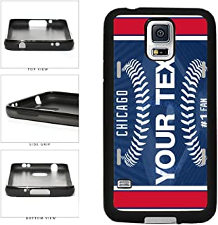 BleuReign(TM) Personalized Custom Name Baseball Chicago Blue License Plate TPU RUBBER SILICONE Phone Case Back Cover For Samsung Galaxy S5