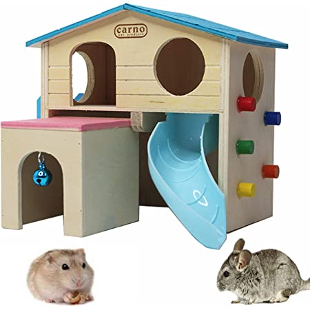 Dibiao Double Layer Hamster House Waterproof Durable Dual-layer Pet Play House Smooth Prats with Stairs Slide Multiple Colour Optional