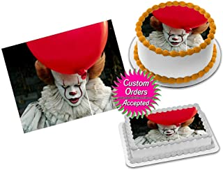 It Movie Pennywise Clown Edible Image Icing Frosting Sheet #8 Cake Cupcake Cookie Topper (8