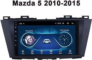 GPS Navigator System, 9'Display Android 9.0 Bluetooth Car Entertainment Multimedia Radio, für Mazda 5 2010 2015, Autoradio mit DVD CD Player,Wifi 1g+16g