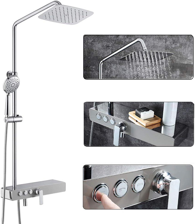 ZHHID Badezimmer-Duschsystem-Set - Handbrause zur Wandmontage - Vollkupfer-Duschkopf