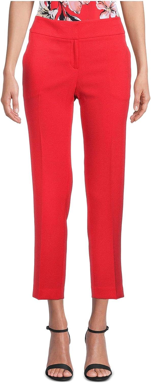 Kasper Womens Red Cropped Wear to Work Pants Size 16P