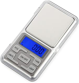 TechCode Digital Smart Scales, 500g / 0.01g Digital Pocket Scale Portable Mini Digital Scale LCD Electronic Scale Weighing Scale Jewelry Gold Diamond Balance Scale Precision Weighing Tools(500g)