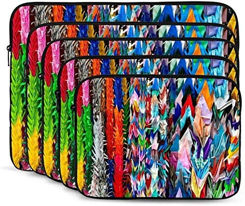 Colorful Roller Skating Print Laptop Sleeve Shockproof Notebook Briefcase Laptop Case Protective Bag Tablet Carrying Case 10-17 Inch