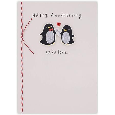 Susan OHanlon Anniversary Card Penguin Couple Happy Anniversary