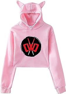 Women`s Girls Chad Wild Clay Hoodies Sweatshirt Cat Ear Crop Tops